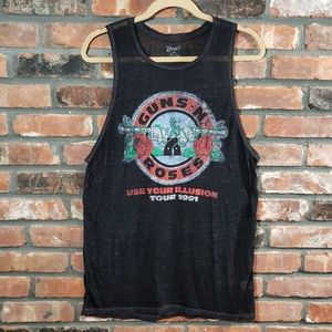 Bravado Guns 'N Roses Use Burnout Tour Muscle Top